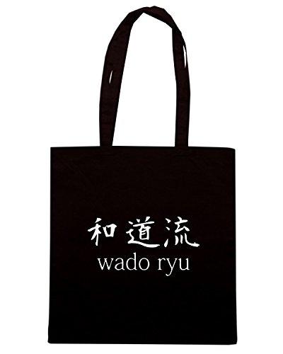 T-Shirtshock - Bolsa para la compra TAM0181 wado ryu dark tshirt Negro