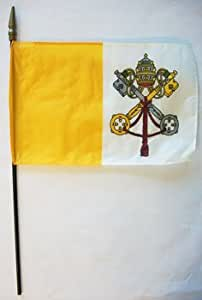 "Vatican (Papal) - 8"" x 12"" World Stick Flag"