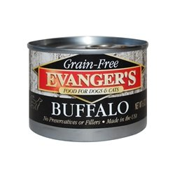 Evanger 100% Game - Evanger's Grain Free Buffalo - 24x6 oz