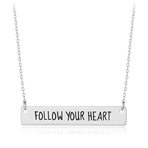 - HUIMEI Follow Your Heart Spiritual T-bar Statement Choker Necklace