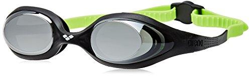 Arena 1e362-black-silver-green Spider Jr Espejo anteojos de natación