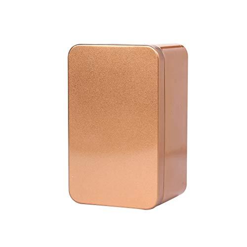Yardwe Rectangular Empty Tin Metal Tin Box Containers Gift Candy Loose Tea Storage Organizer - 13x8x6cm ()