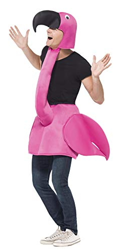 Pink Flamingo Adult Costume - Halloween Costume With Attachable Head, Over Clothes Costume, Party Accessory - Pink, One -