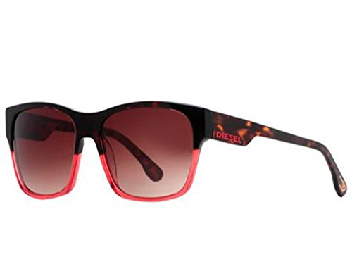 Diesel Vantage Limited Edition Collective Sunglasses (DL0012-44F tortoise red fade/brown red gradiient lens, one - Red Sunglasses Diesel
