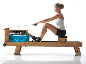 Waterrower Oxbridge Rower Rowing Machine S4 with Hi-Rise Attachment by Water Rower