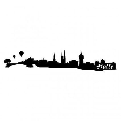 Samunshi/® Berlin Skyline Aufkleber Silhouette in 8 Gr/ö/ßen und 25 Farben 15x4,2cm azurblau