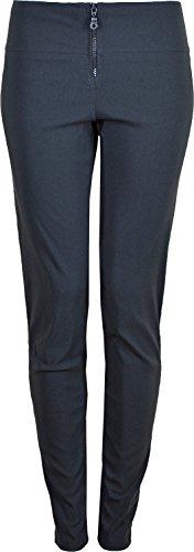 Womens Girls Skinny pantalones tejido elástico interior de la pierna 31pulgadas negro