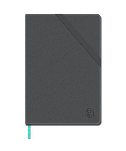 NeoLab N Hardcover Professional Notebook for use with Neopen N2 or M1 Smartpen for Writing, Sketching, Journaling -125 Ruled & 125 Blank Pages, 5.5 x 8 in. (Black)