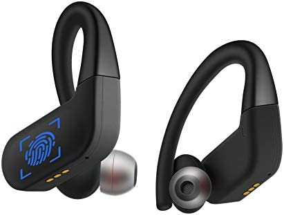 Bluetooth 5.0 Headphones True Wireless Earbuds Touch Control Sweatproof TWS Sport Earphones Volume Control Headset with Charging Case HiFi Bass Stereo Sound Earphones 40H Playtime Built in Mic