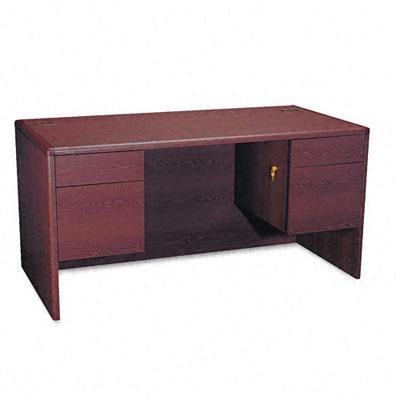Hon - 10700 Series Desk 3/4-Height Double Pedestals 60W X 30D X 29-1/2H Mahogany ''Product Category: Office Furniture/Desks''