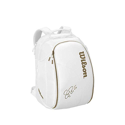 (Wilson Federer DNA Tennis Backpack (White/Gold))