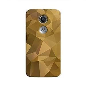 Cover It Up - Olive Green Pixel Triangles Motorola Moto X2 Hard Case