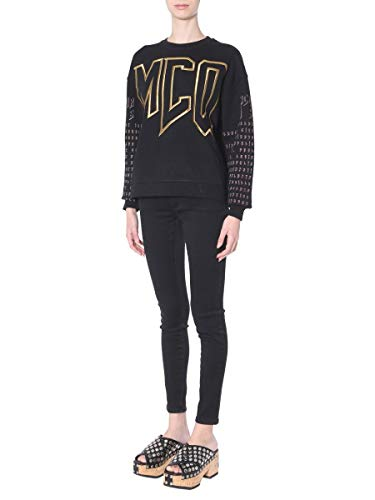 Mcqueen Noir Mcq Sweatshirt By Alexander 472273rmj731000 Femme Coton qwaEXCRx