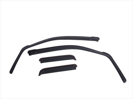 EGR 575155 SlimLine In-Channel WindowVisors Set of 4, Matte Black Finish EGRI381