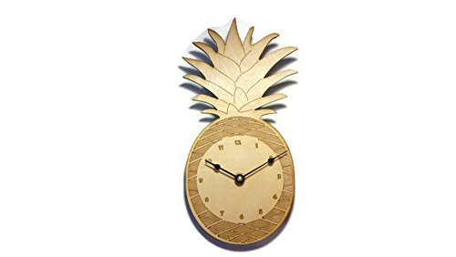 Pineapple Wall Clock - 5.5 in by 10.5 in - Birch