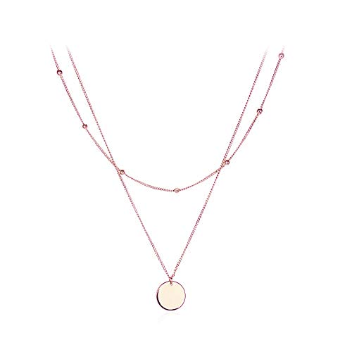 Bohemian Golden Coin Multilayer Necklace Retro Layered Handmade Woman Choker Collar Necklace Jewelry Gift (C:Layer Disk -RG)
