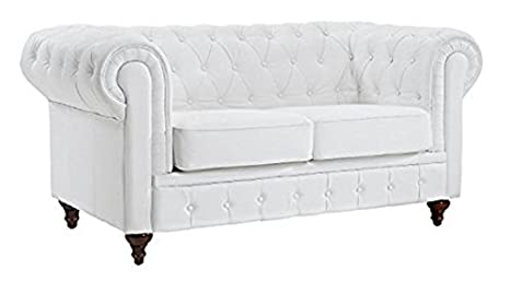 Swell Amazon Com Classic Scroll Arm Tufted Bonded Leather Alphanode Cool Chair Designs And Ideas Alphanodeonline