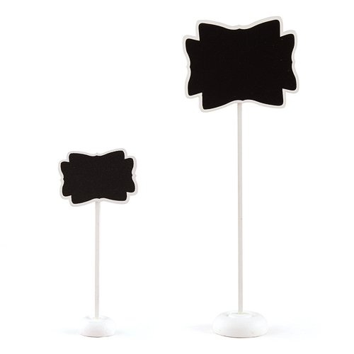 Decorative Chalkboard with Stand Small White