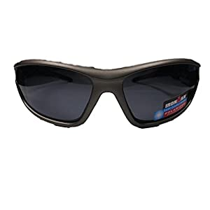 Ironman Invert Grey and Blue Sport Sunglasses with 100% UVA/UVB Protection Shatter Resistent Lenses