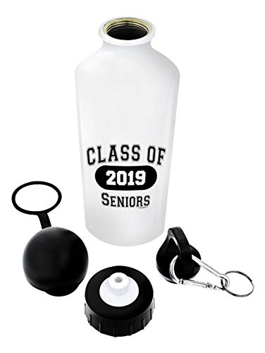 Graduation Gifts Class of 2019 Seniors Grad Gift Aluminum Water Bottle with Cap & Sport Top White