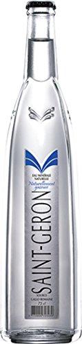 Saint-Geron (Sparkling) Natural Spring Mineral Water, 25.3 fl oz (12 Glass Bottles)