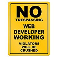 No Trespassing Web Developer Working - Occupations - Parking Sign [ Decorative Novelty Sign Wall Plaque ]