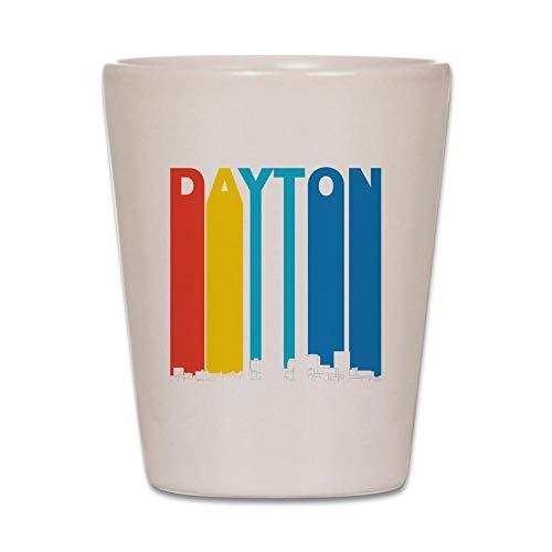 CafePress Retro Dayton Ohio Skyline Shot Glass, Unique and Funny Shot Glass