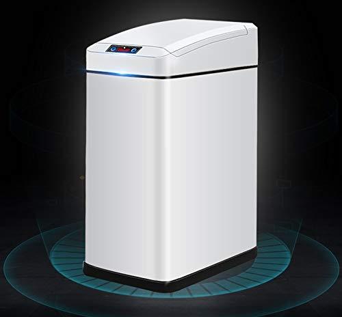 YN YN YN Papelera Inducción automática Smart Trash Home Bathroom Waste Container Toilet Waste Basket Living Room Basura Basurero con Tapa Dormitorio Waste Container Blanco (Color : Blanco, tamaño : 13L) fca04e