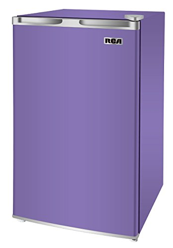 RCA RFR321-FR320/8 IGLOO Mini Refrigerator, 3.2 Cu Ft Fridge, Purple (Renewed)