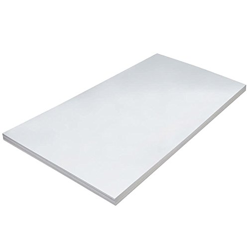 TableTop King 5226 36'' x 24'' Heavy Weight White Tagboard - 100/Pack by TableTop King