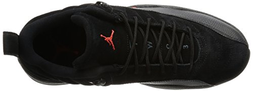 Air Jordan 12 Mens Retrò Sneakers Basse 308.317-003 Nero / Arancio Max-antracite