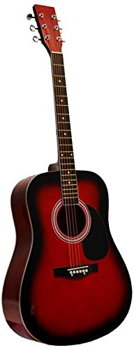 red acoustic guitar - 2