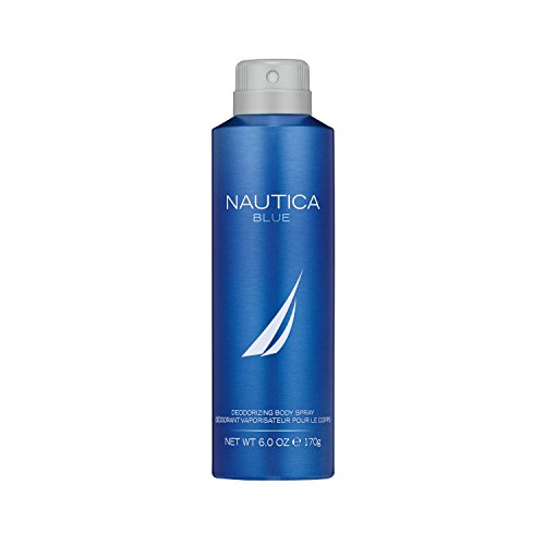 Classic Body Spray - Nautica Blue Sail Deodorizing Body Spray for Men, 6 oz., Male Body Spray in a Classic, Water & Sailing Inspired Fragrance