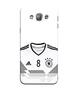 ColorKing Football Germany 12 White shell case cover for Samsung A8