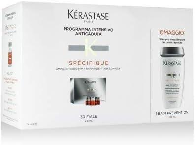 Kerastase específico anticaída Aminexil Force R 30 ampollas + baño ...