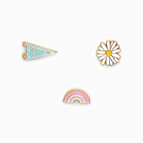 Pura Vida Sweet Valley Pin Set - Gold-Plated Brass, Traditional Back Closure - Pack of 3