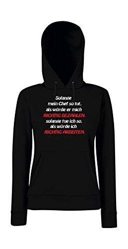 Textilmonster - Sudadera con capucha - para mujer negro