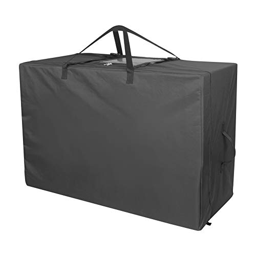 Cuddly Nest Folding Mattress Storage Bag Heavy Duty Carry Case for Tri-Fold Guest Bed Mattress (Black, Fits up to 6