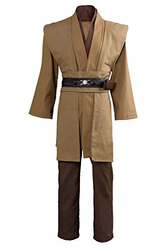Jedi Halloween Costume For Adults (Wecos Adult Halloween Jedi Costume Tunic Robe Outfit Three Versions (X-Large,)