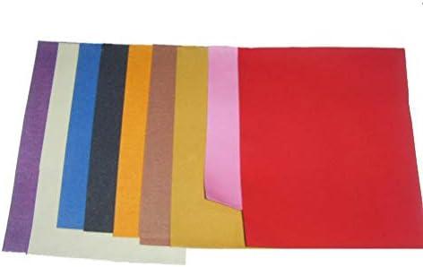 Healifty 10 Stücke Polierpapier Bunte Schleifpapier 23X28 Cm Nass Trocken Polierwerkzeug (Gelegentliche Farbe)