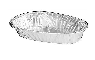 Handi-Foil of America Aluminum Foil Small Baked Potato Shell 50/Pk -Disposable Container Pans (pack of 50)