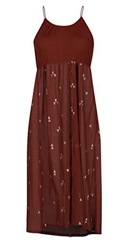 Hurley Womens Embroidered Mesh Dress, Burnt Orange - X-Large