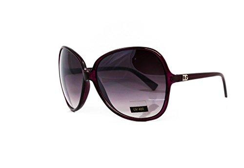DG Eyewear à Lunettes de Soleil Femme Violet - Saison 2017 - La Mode et UV400 Protection (UVA & UVB) - Nouvelle 2017 Collection (Modele: DG Classique)