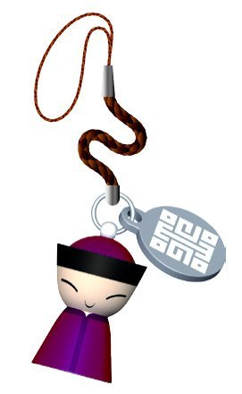 A di Alessi Mr Chin Cell Phone Charm, Red (ASG88 R) by Alessi