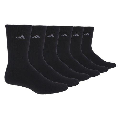 Tennis Adidas Socks Crew (adidas Women's Athletic Crew Socks (6-Pack), Black/Aluminum 2, One Size)
