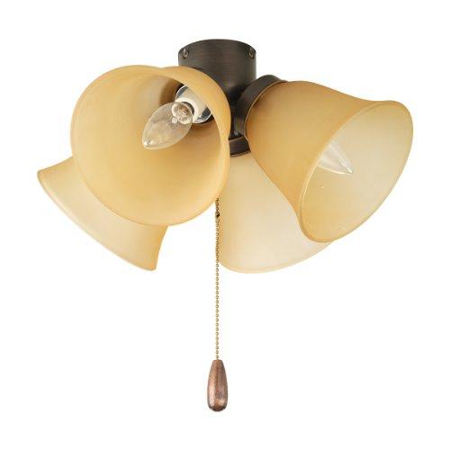 Progress Lighting P2643-20T AirPro 4-Light Ceiling Fan Light, Antique Bronze (4 Light Topaz Antique)