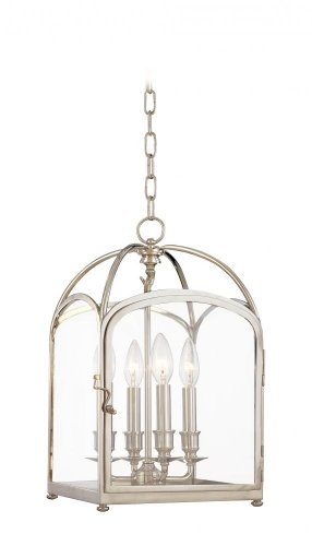 Hudson Valley Lighting 6480-OB Oxford - Four Light Pendant, Old Bronze Finish with Clear