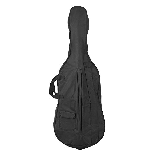 ammoon 4/4 & 3/4 Cello Gig Carrying Bag Case Backpack with Shoulder Strap Black