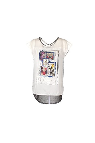 T-shirt Donna Yes-zee L Bianco T223 C200 Primavera Estate 2017