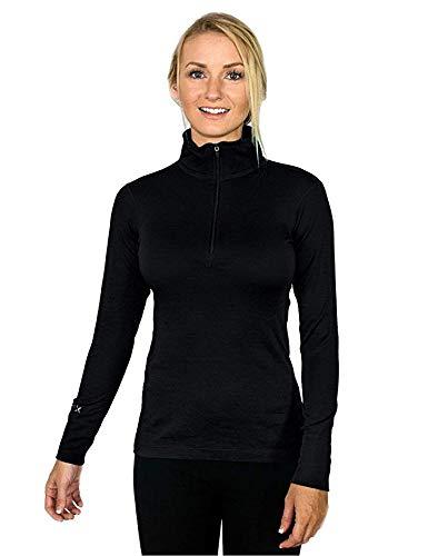 "Womens Ladies 100/% Merino Wool base layer thermal top jersey jumper 8 32/"" 14 36/"""
